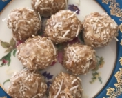 Tahini and coconut balls