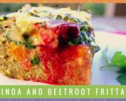 Quinoa and Beetroot Frittata